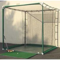 PVC Golf Cage:  Use this golf cage to practice your swing, indoors or out.