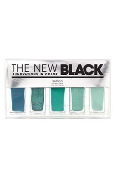 THE NEW BLACK 'Wave - Ombré' Nail Polish 5-Piece Set. $22
