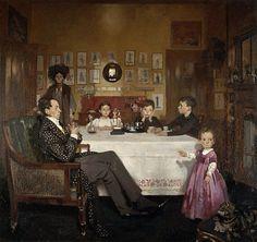 "via @hillaryssteps   ""A Bloomsbury Family"" : Sr William Orpen (1878-1931) 1907"