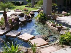 Water features add a little something special to your landscape. arizonawaterfalls10