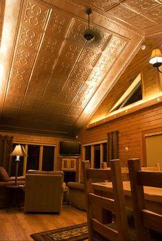 vaulted tin ceiling - Google Search