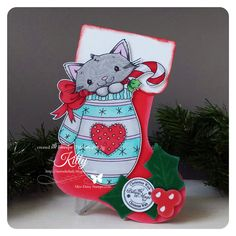 Thank you for the sweetest inspiration today Kitty!  Here is the adorable Mitten Kitten - Jennifer Nilsson Art.  Visit Kitty here www.intruderlady.blogspot.com and find Mitten Kitten here http://www.missdaisystamps.com/product/mitten-kitten-jennifer-nilsson-art/.   Thanks for visiting. Hope we've added extra special sweetness to your day.  Happy Stamping! Love, Miss Daisy