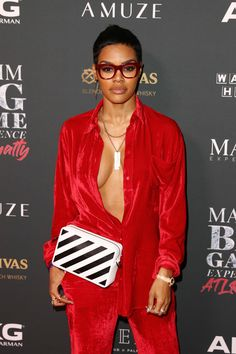 Teyana Taylor Photos - Teyana Taylor attends The Maxim Big Game Experience at The Fairmont on February 2019 in Atlanta, Georgia. - The Maxim Big Game Experience - Inside Hip Hop Outfits, Dope Outfits, Chic Outfits, Fashion Outfits, Celebrity Baby Names, Celebrity Babies, Celebrity Style, Solange, Pretty Girl Swag