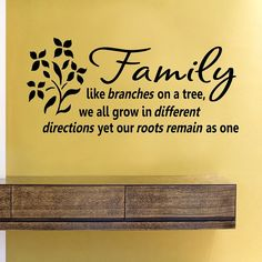 SlapArt Family like branches on a tree we all by VinylMasterpieces, $15.99