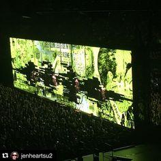 #Repost @jenheartsu2 ・・・ Invisible #U2ieTour #U2