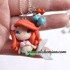 Arial The Little Mermaid ooak necklace made in italy