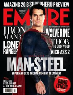 Henry Cavill as Superman on the March 2013 issue of Empire Magazine.