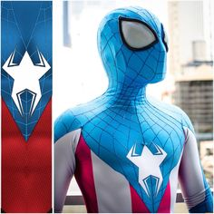 """""""Captain Spider-Man Cosplay — GeekTyrant"""" the star looks like a frog to me."""