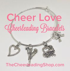 Show your Cheer Love with these GORGEOUS Cheerleader Bracelets from TheCheerleadingShop.com. Yep! These are the perfect GIFTS for your teammates too :-)