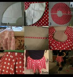 My polka dot DIY circle skirt I made for my minnie mouse costume.(took me the whole day to make.) Learned how to make from youtube videos/tutorials ! (;