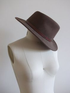 143498ddf7a11 1970s Vintage Wool Bohemian Western Hat