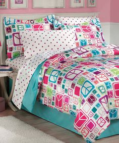 Love this Peace Out Comforter Set on #zulily! #zulilyfinds