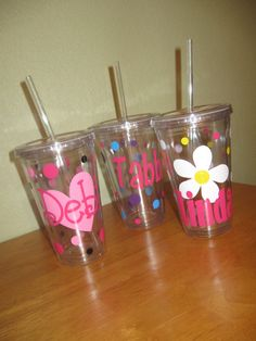 Acrylic tumbler Mother's day gift Personalized by DeLaDesign, $12.00