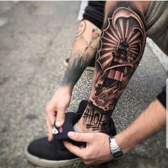 14 Amazing Leg Tattoos you should try - DarlingNaija Dope Tattoos, Hand Tattoos, Body Art Tattoos, Tribal Tattoos, Tattoos For Guys, Forearm Sleeve Tattoos, Calf Tattoo, Forearm Tattoo Men, Tattoo Sleeve Designs
