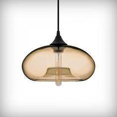 Edison Industrial Aurora Modern Pendant Light - Amber