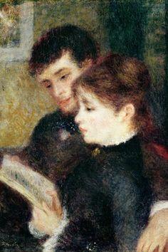 Couple Reading Canvas Print by Pierre-Auguste Renoir | iCanvas