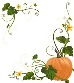 Pumpkin Vine Border Royalty Free Stock Vector Art Illustration