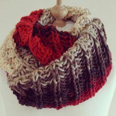 Something new. #knitting #knittingcowl #knittedcowl #oversizedcowl