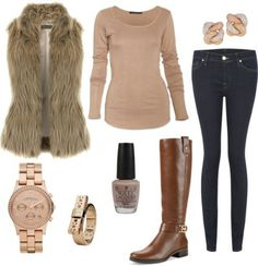 Pretty in Pink and Fur, how to wear a fur vest with riding boots.