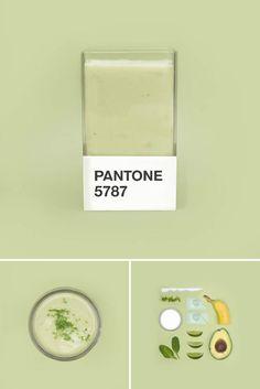 Pantone Smoothies – Recréer les couleurs Pantone avec des fruits mixés