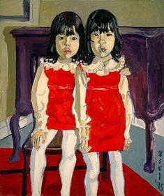 The De Vegh Twins (1975)  By Alice Neel