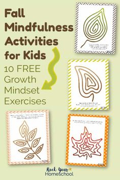 Free & Simple Fall Mindfulness Activities for Kids Mindfulness activities are wonderful way to help your kids learn & practice growth mindset skills. These free printable exercises give your kids hands-on ways to calm, control, & practice affirmations. Counseling Activities, Art Therapy Activities, Autumn Activities, Fun Activities, Mindful Activities For Kids, Kids Printable Activities, Mindfulness For Kids, Mindfulness Activities, Mindfulness Practice