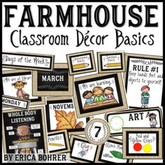 Farmhouse Classroom Decor Basics