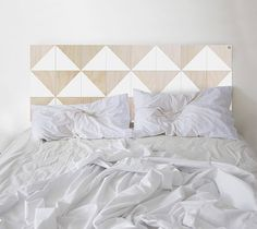 Scandi Style Wood Headboard in White by NodAustralia on Etsy