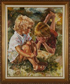 Auktion | Charles Roka olja på duk | Stockholms Auktionsverk Online | 761530 Stockholm, Paintings, Children, Art, Auction, Young Children, Art Background, Boys, Paint