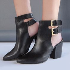 Reveal more than a hint of skin in cutout booties!