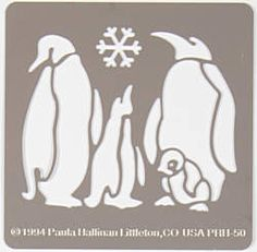 Penguin Family Stencil by Hot Off The Press Inc (4060262)