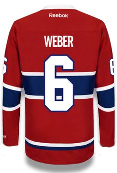 Shea Weber #6 Montreal Canadiens Home NHL Jersey. An exceptional new player for the #HABS.