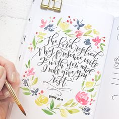 Lettering Tutorial - Natalie Malan Watercolor Art Lettering Fonts Quotes - Watercolor Tattoo Paintings Church Flowers Tutorial Art