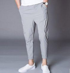 Men's Drawstring Pants Casual Elastic Fitness Men's Drawstring Pants Casual Elastic Fitness - Men's style Blazer Outfits Men, Stylish Mens Outfits, Formal Men Outfit, Casual Wear For Men, Mens Fashion Suits, Fashion Pants, Men's Fashion, Mens Kurta Designs, Mens Clothing Styles