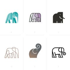 Swipe to see the final version. Created by Tadhg S. Use to show your work! Elephant Sketch, Elephant Logo, Elephant Tattoos, Elephant Design, Elephant Icon, Elephant Outline, Happy Elephant, Studio Logo, Animal Logo