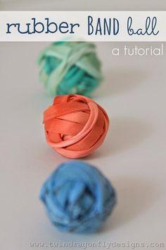 Rubber band ball tutorial