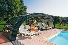 It´s easy to make a shelter place to relax when you´ve got our high quality pool enclosure TROPEA
