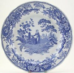 "Spode Blue Room Georgian Dinner Plate(s) Girl/Well by Spode. $13.00. Dimensions: 10"" Dia. Brand New - First Quality. Dinner Plate(s) Girl/Well - Blue Floral Decor - Georgian Theme - Made In China"