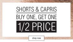 Bargain - Buy One, Get One 50% OFF - Shorts & Capris @ K&K