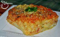 Veganana: Torta de Batatas com Molho de Aveia