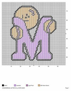 GINGERBREAD LETTER M by HOPE BAER