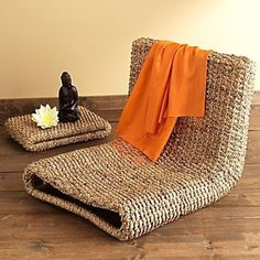 Prompted by my therapist, I'm attempting to take up meditation. I've cleared a spot in the second bedroom in which to get my 'tation on, but I'm both finding it difficult because I have back problems and the floor is so uncomfortable. So I'm on the lookout for some good meditation chairs. Any of you have experience shopping for the right mediation-encouraging chair?