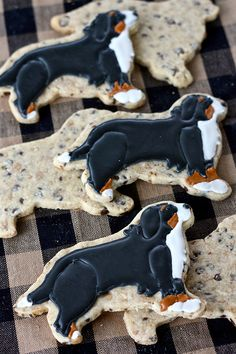 Bernese Mountain Dog Cookies FoodBlogs.com