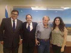 Incremento do comércio bilateral e transferência de tecnologia entre Brasil e Israel dominaram a pauta do encontro