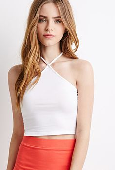Forever 21 is the authority on fashion & the go-to retailer for the latest trends, styles & the hottest deals. Shop dresses, tops, tees, leggings & more! Girls Fashion Clothes, Girl Fashion, Girl Outfits, Fashion Outfits, Beautiful Blonde Girl, Beautiful Girl Image, Elite Model Look, Fitness Wear Women, Halter Crop Top