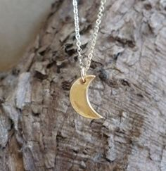 Bronze Crescent Moon Necklace  on Etsy, Sold