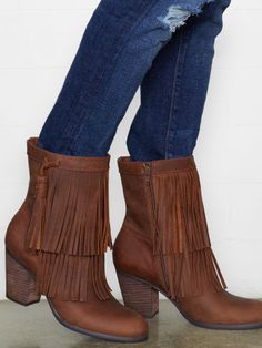 Leather Fringe Boot - Denim & Supply Boots - RalphLauren.com