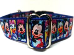 Mickey Mouse and Friends Dog Collar 1 by ELMEDO on Etsy, $15.00