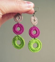 Crochet Earrings by FrEEna