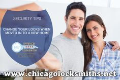Security Tips From Chicago Locksmiths: Change your Lock or rekey  your locks upon moving into a new home. Get the help from the professional: www.ChicagoLocksmiths.net